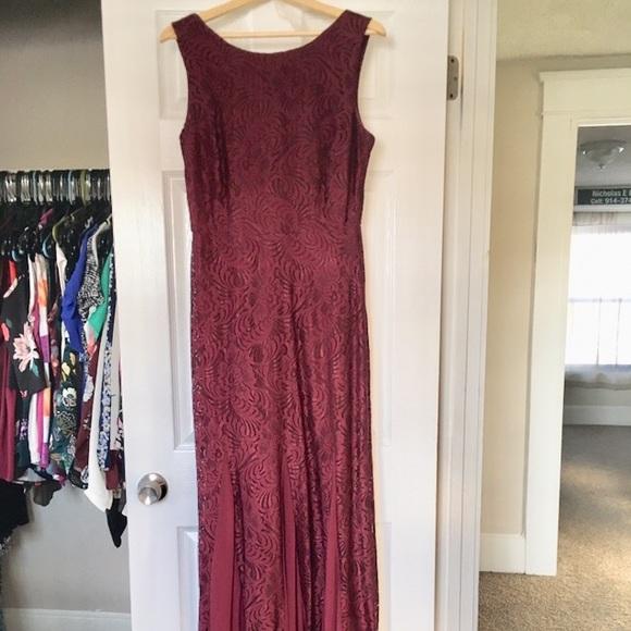 82141044fcb1 violets and roses Dresses | Davids Bridal Stretch Lace Dress W Godet ...